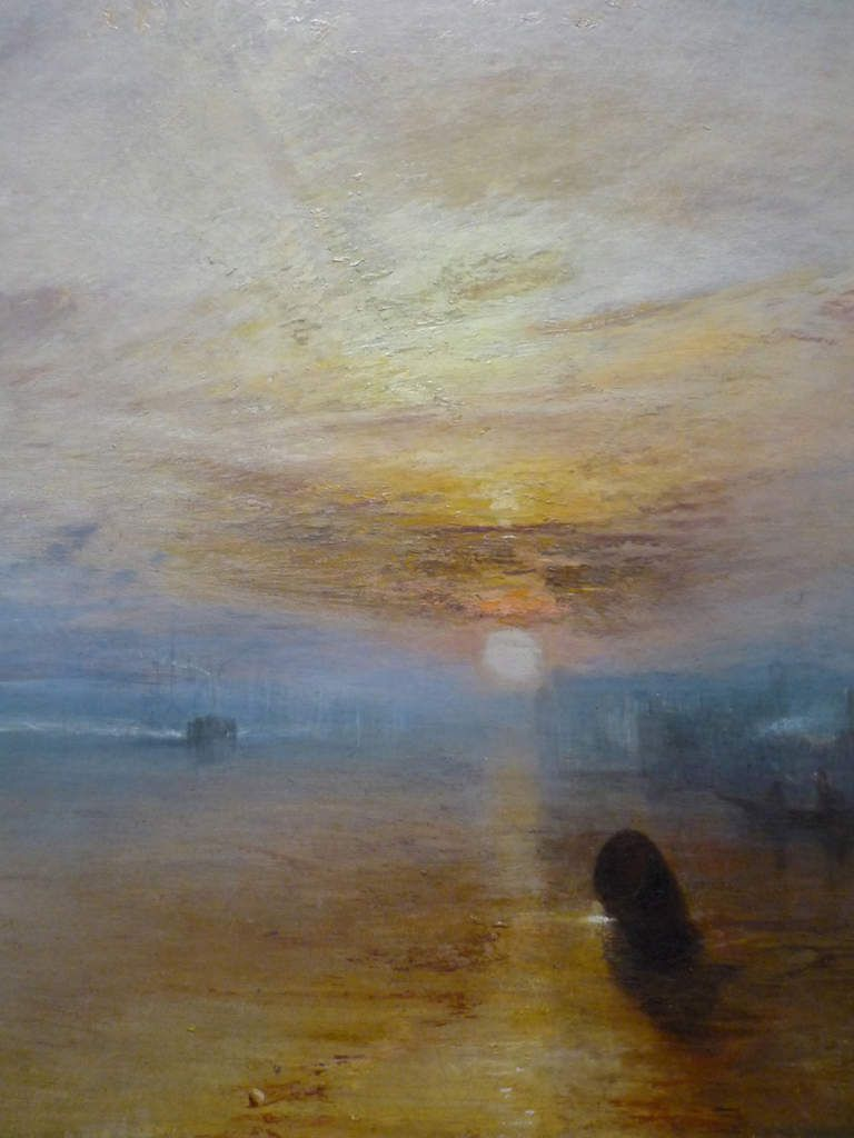 Joseph Mallord William Turner, Ulysses deriding Polyphemus - Homer's Odyssey, 1829 ; The Fighting Temeraire tugged to her Last Berth to be broken up, 1838, 1839 ; Rain, Steam and Speed – The Great Western Railway, 1844