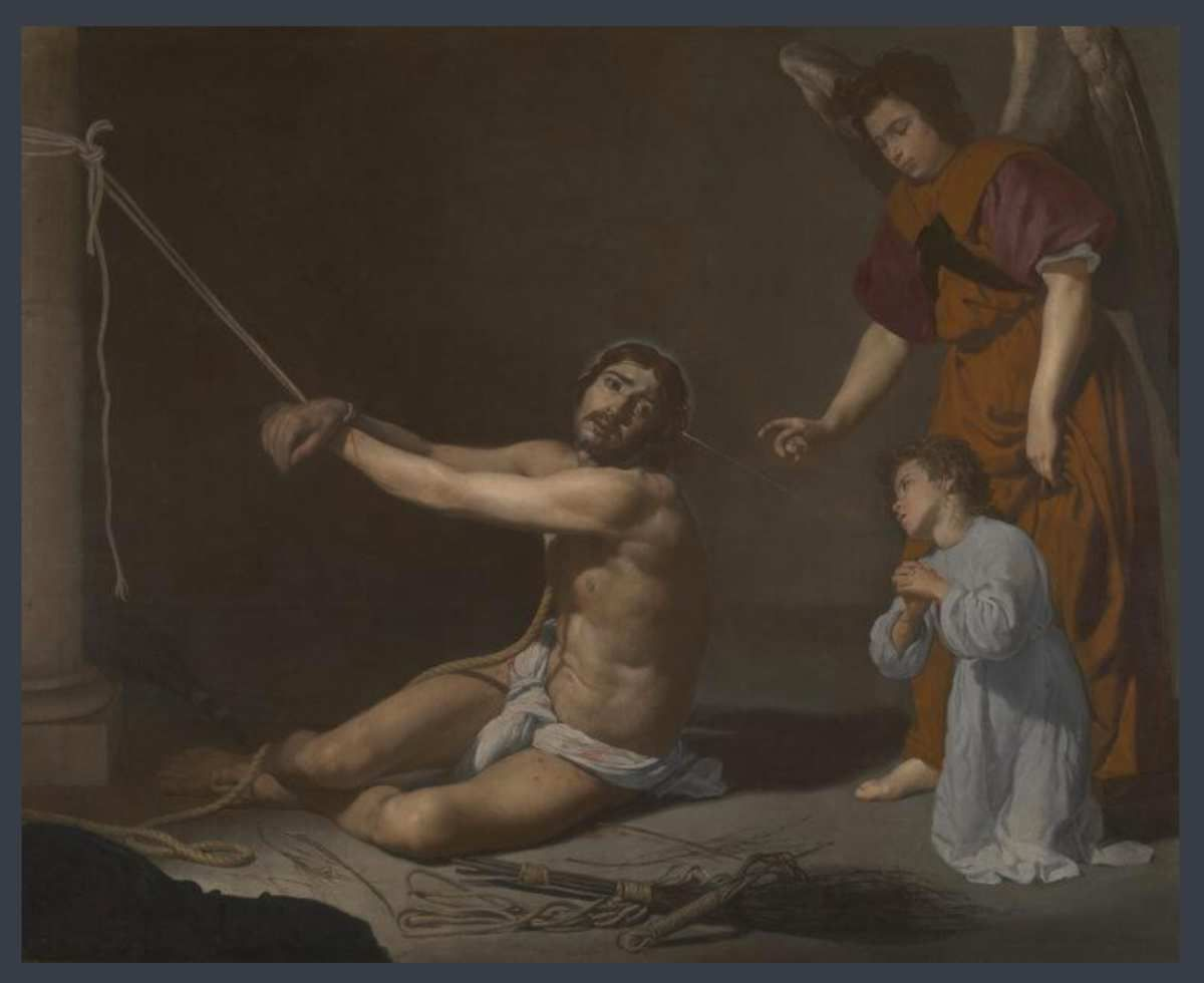 Diego Velázquez, Christ after the Flagellation contemplated by the Christian Soul, probably 1628-29 © Internet