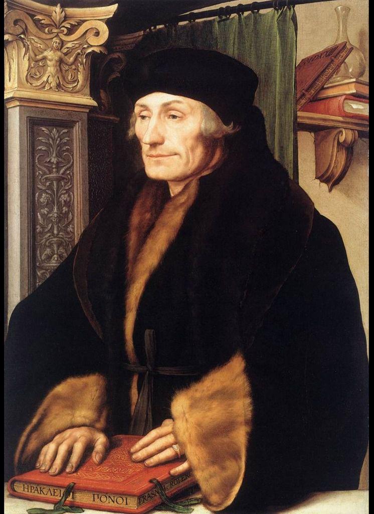 Hans Holbein the Younger, Erasmus, 1523 © Internet