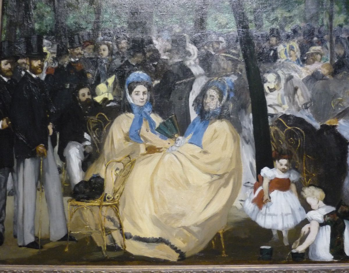 Edouard Manet, The Music in the Tuileries Garden, 1862