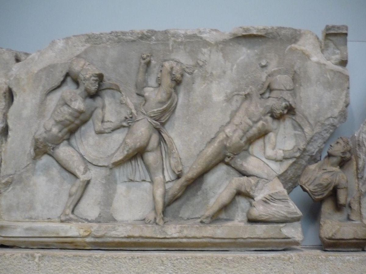 Slabs from the Amazon frieze, Carved about 350 BC
