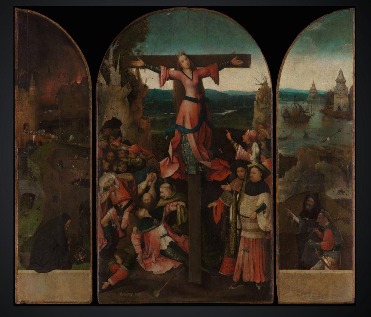 Hyeronimus Bosch, Visions of the Hereafter. Ascent into Heaven (entre 1505 et 1515) ; Santa Liberata, Triptyque
