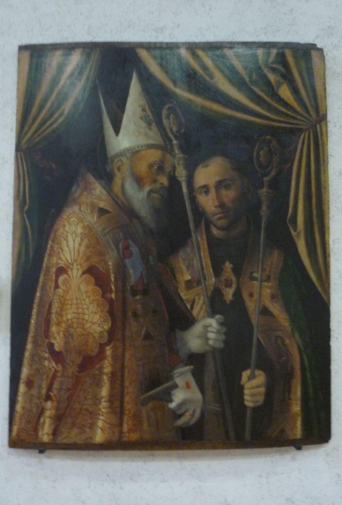 Bartolomeo Montagna (1450 c.-1523), San Biagio e un santo vescovo (Saint Blaise and a Bishop Saint)