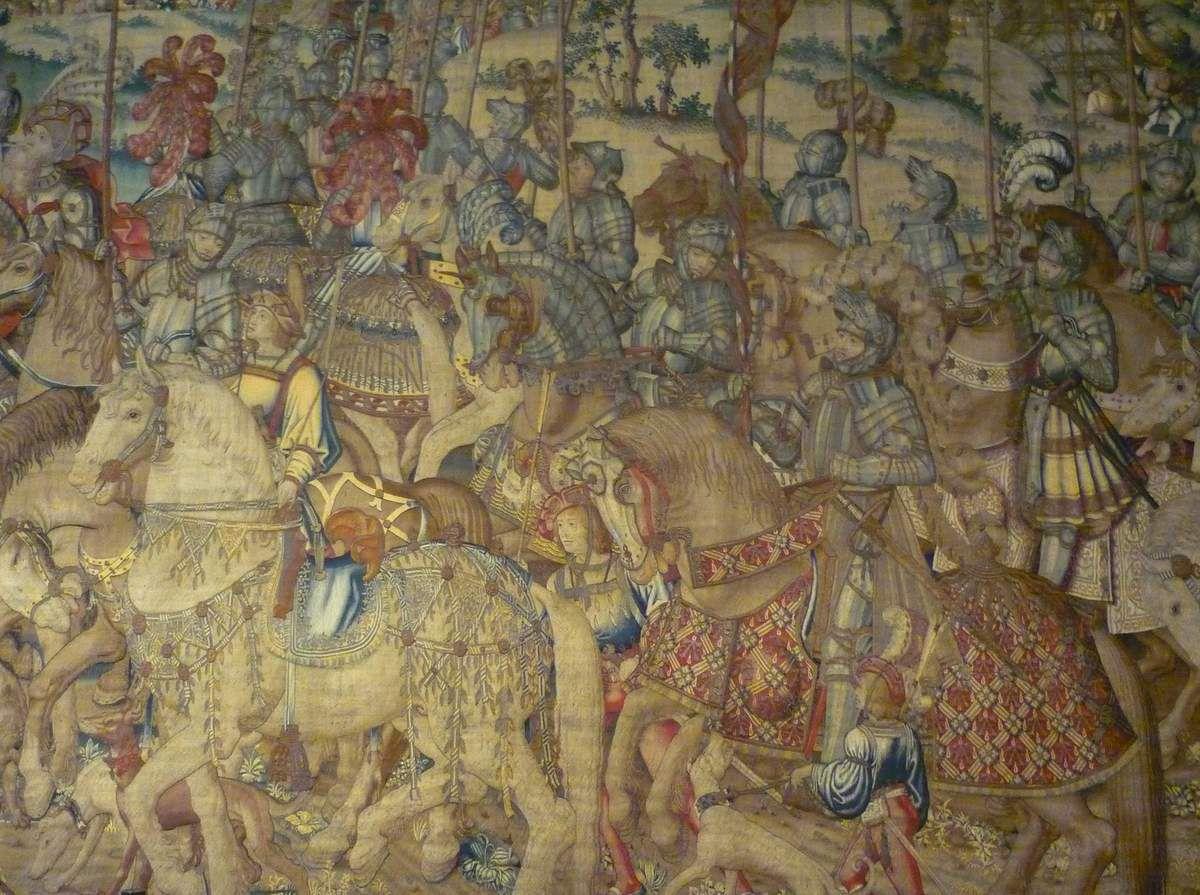 Manifattura Brusselle (primo quarto del secolo XVI), Davide ordina a Joab e all'esercito dei prodi di combattere contro gli Ammoniti (Prov : Basilica di S. Antonio)