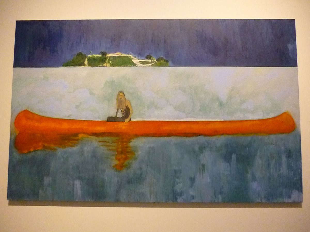 Peter Doig, 100 Years ago, 2001, huile sur toile, 229 x 359 cm