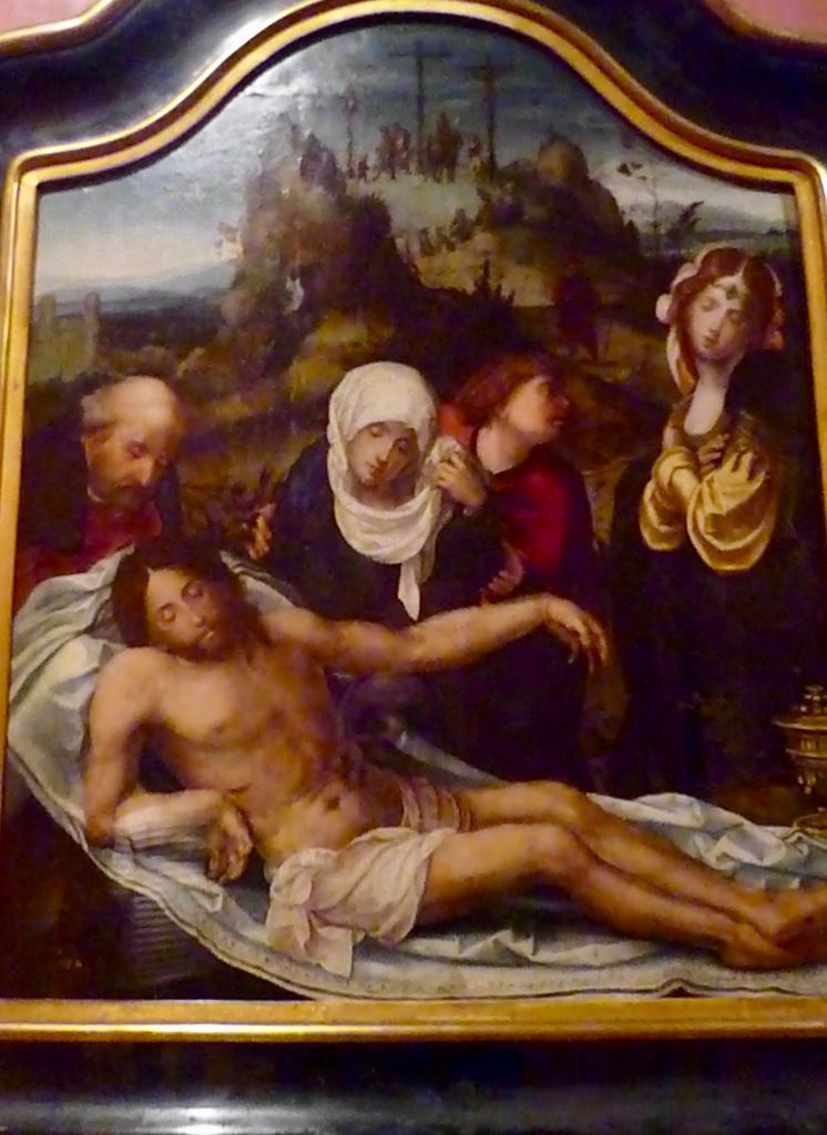 Crying over the Dead Christ, oil on wood, Anonymous