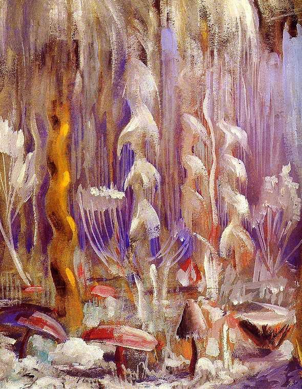 Mikalojus Konstantinas Čiurlionis, la Création du monde (cycle de treize tableaux), 1905-1906, I à XIII, Tempera sur papier
