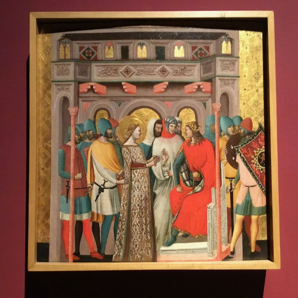 Giovanni Baronzio, Stories from the Life ouf St Columba, circa 1345-50 (tempera on wood from the cathedral of Santa Colomba of Rimini)
