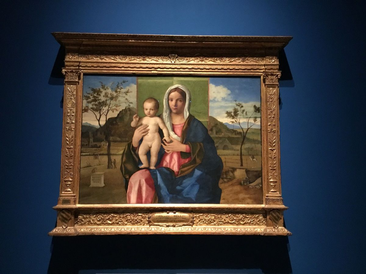 Giovanni Bellini, Madonna and Child, signed and dated 1510, oil on Canvas, 85 cm x 118 cm