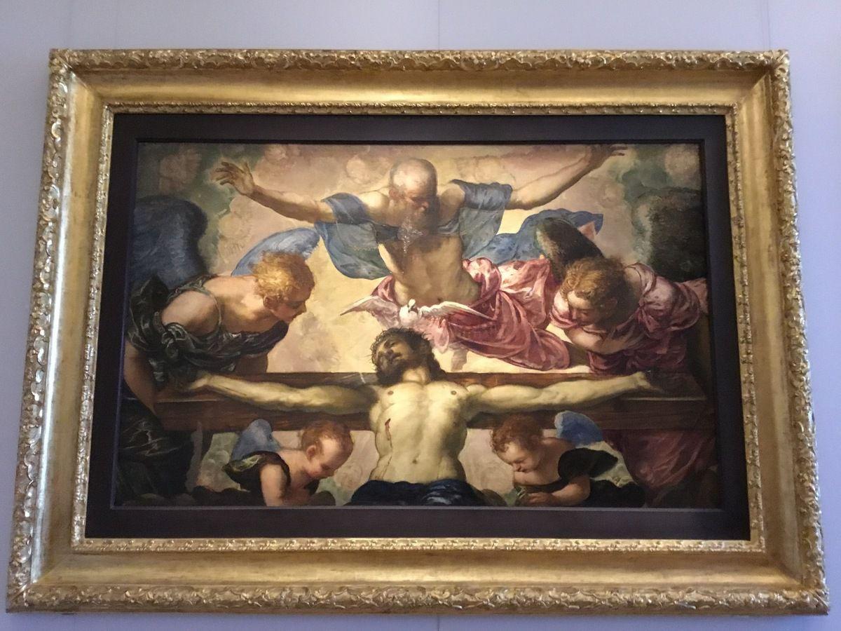 Jacopo Robusti detto il Tintoretto, La Trinità, Olio su tela, 123 x 184 cm, 1561-62 c.