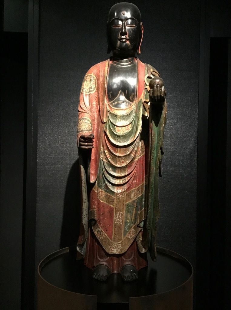 Standing Jizo Bodhisattva (Assembled sections of lacquered, painted and gilded wood) Momoyama Period (?), second half 16th-beginninf of 17th century
