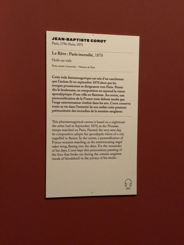 Jean-Baptiste Corot, le Rêve : Paris incendié, 1870, Huile sur toile, Paris, musée Carnavalet