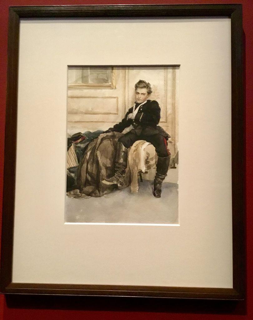 James Tissot, le Soldat blessé, vers 1870, Aquarelle, Londres, Tate Britain