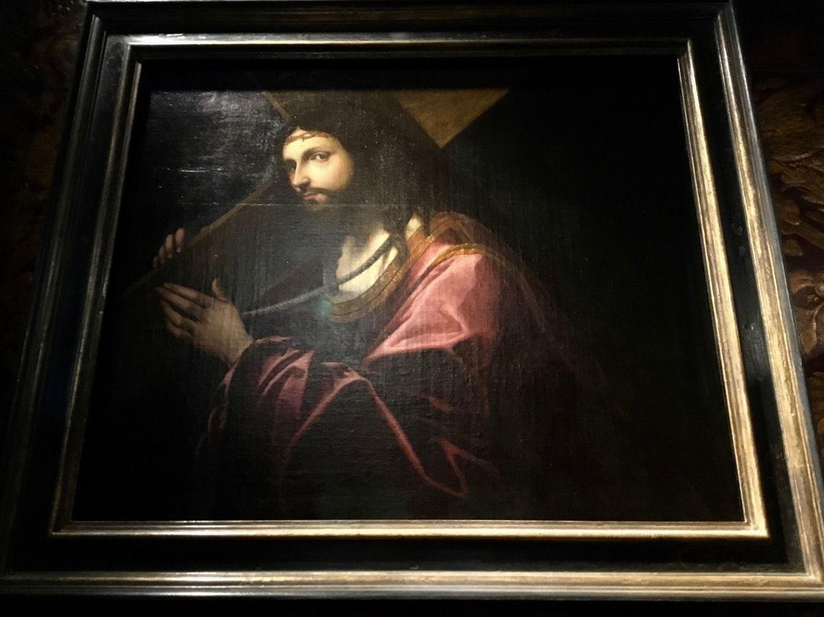 Giovanni Cariani (vers 1485 - après 1547), le Portement de la Croix, Huile sur toile