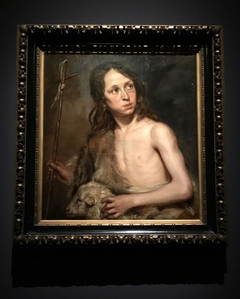 Michaelina Wautier, Saint Jean-Baptiste garçon, Huile sur toile, 68 x 61 cm, Madrid, Museo Lazaro Galdiano