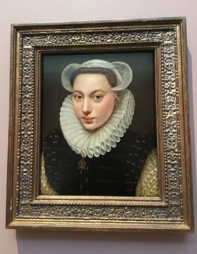 Frans (I) Porbus (1545-1581), Portrait d'une jeune fille, 1581, Huile sur toile