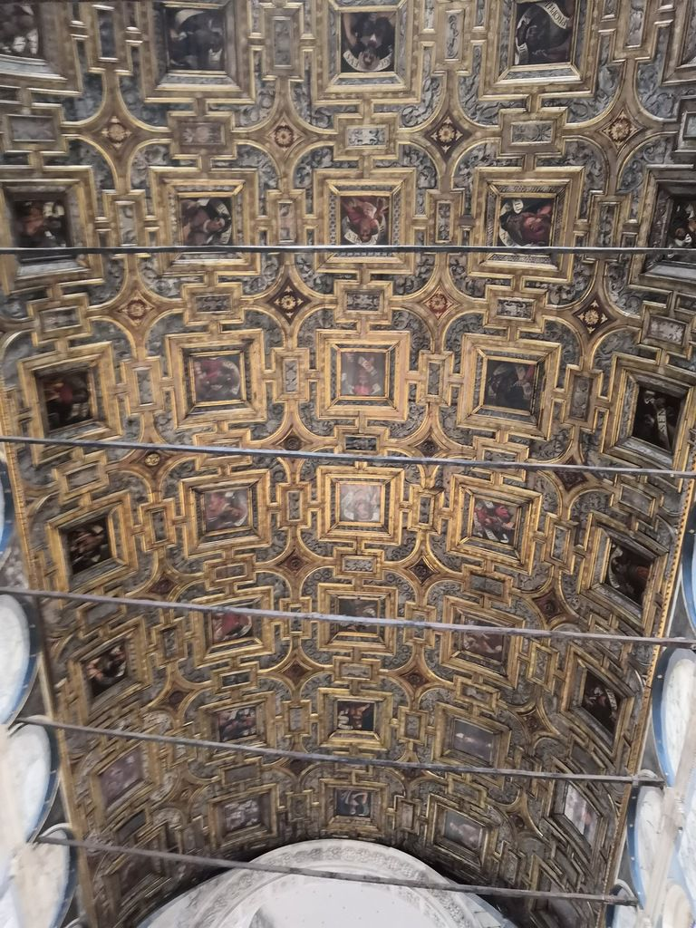 Pier Maria Penacchi (1454-1514), Vincenzo da Treviso (avant 1488-après 1524), Domenico Caprioli (avant 1488-après 1524), Plafond à caissons