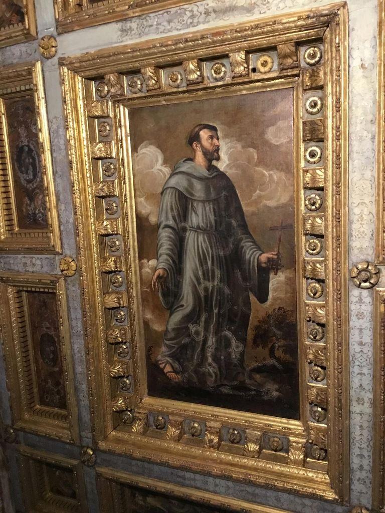 Plafond du « Barco », maniérisme vénitien (XVIe-XVIIe siècles), Saint François