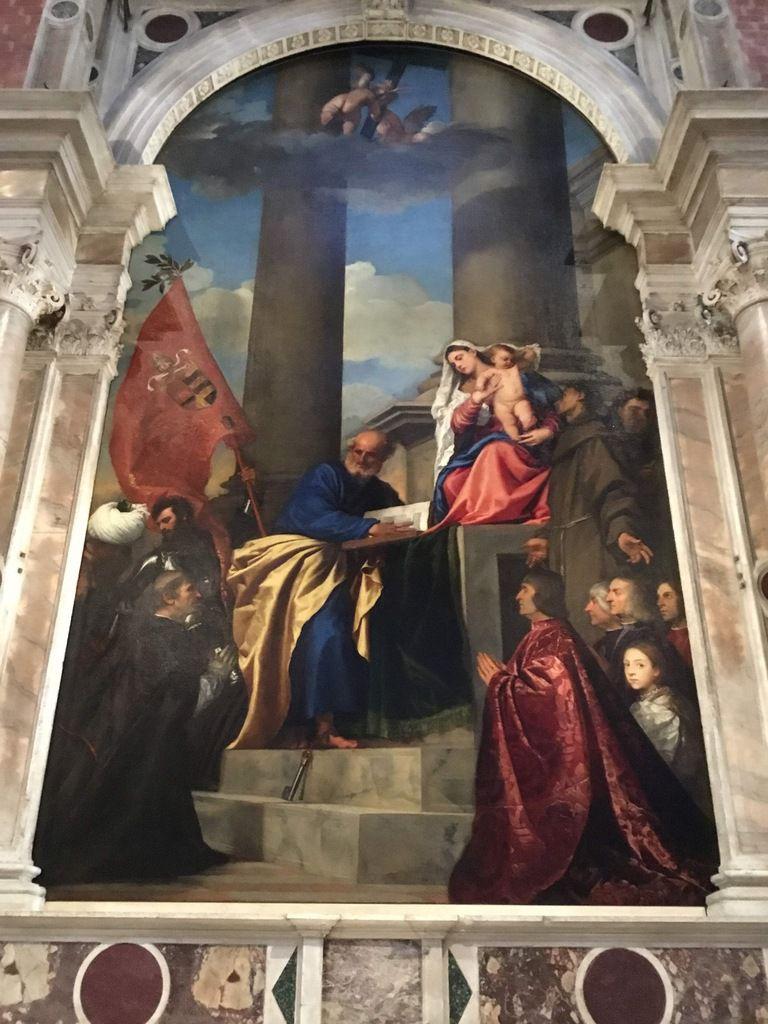 Tiziano Vecellio, Madonna di Ca' Pesaro, olio su tela, 1519-1526