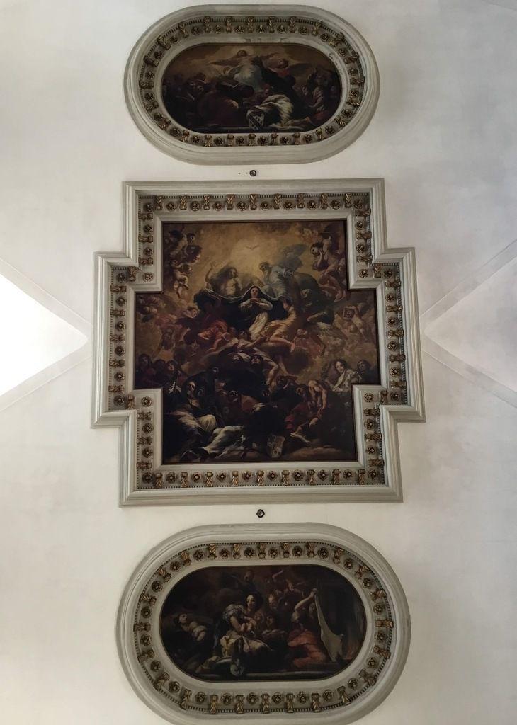 Antonio Zanchi (1639-1722), Marie sur son Trône symbole de l'église mère et les saints titulaires des églises affiliées