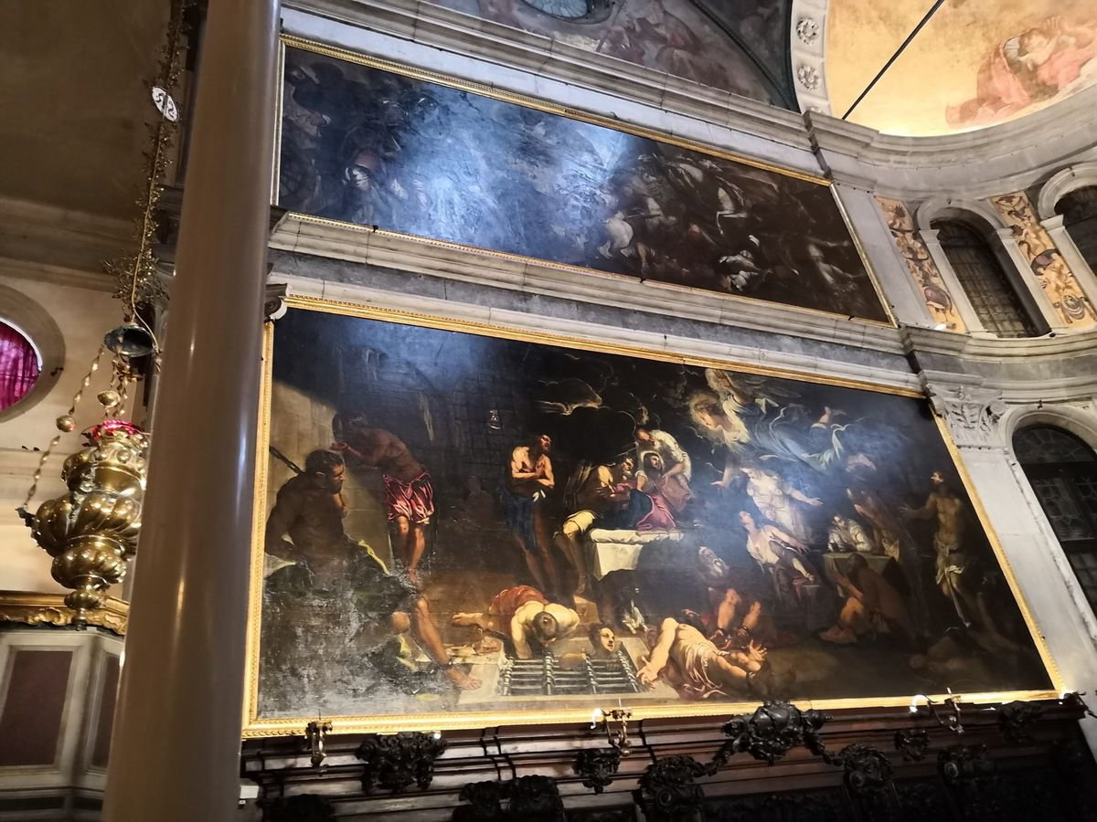 Tintoretto, San Rocco in carcere confortaro dall'angelo (St. Roch in prison comforted by an angel)