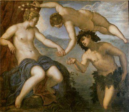 Ariane, Vénus et Bacchus, 1576, Huile sur toile, 146 x 167 cm, Venise, Palazzo Ducale, Sala dell'Anticollegio © Internet