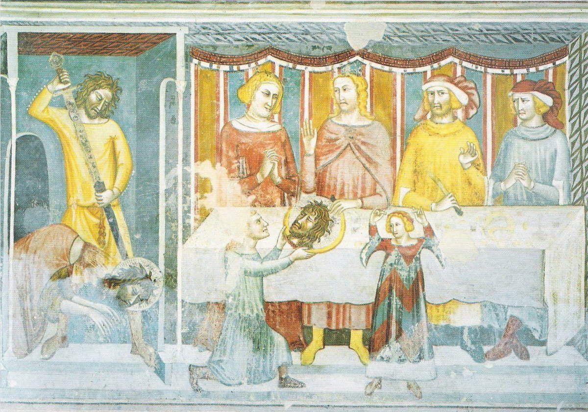 La décapitation de Saint-Jean le Baptiste, Ecole de Giotto, XIVe siècle, Chapelle droite du chœur