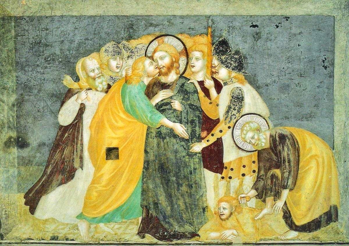 Le baiser de Judas, Ecole de Giotto, XIVe siècle