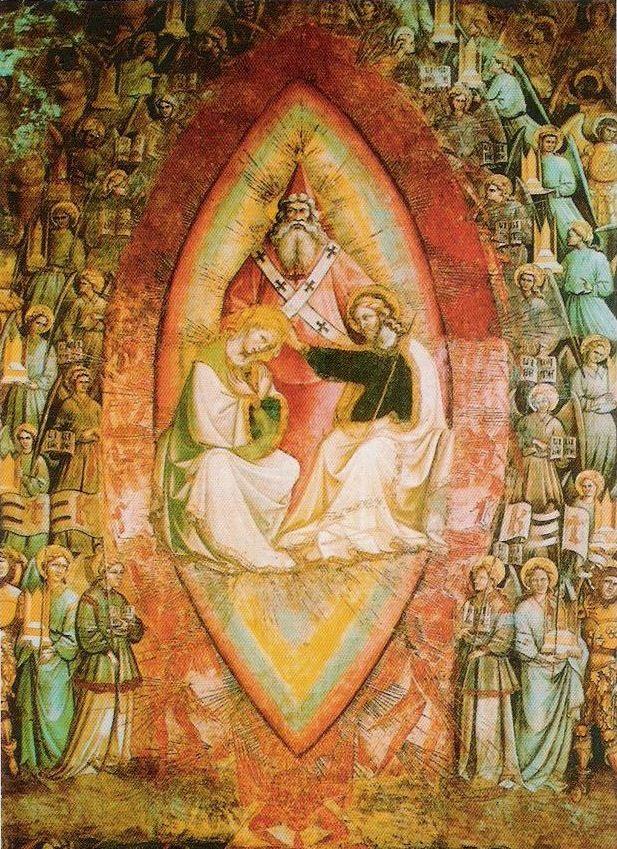 Giovanni da Modena, le Paradis, vers 1410, Bologne, Basilique de Saint Pétrone, Chapelle Bolognini