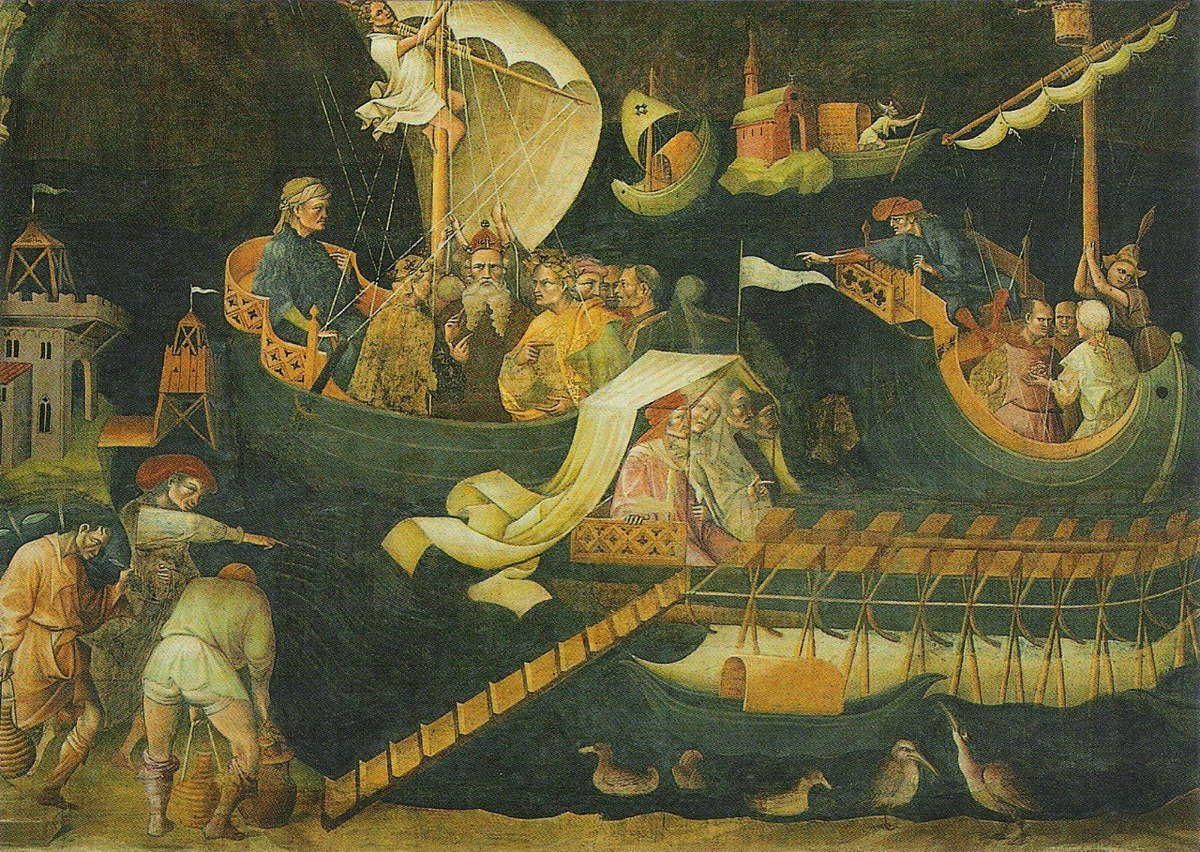Giovanni da Modena, épisodes du voyage des Rois Mages, Chapelle Bolognini (vers 1410)
