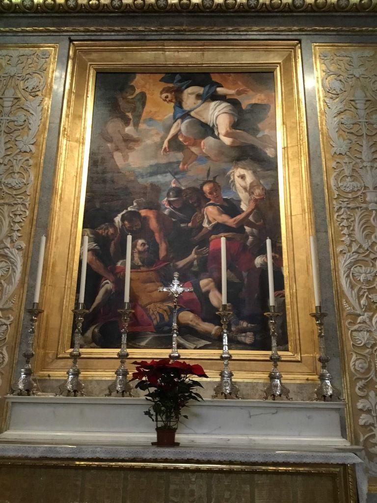 Mattia Preti (1613-1699), la Conversion de saint Paul (chapelle de la langue de France, dédiée à saint Paul)