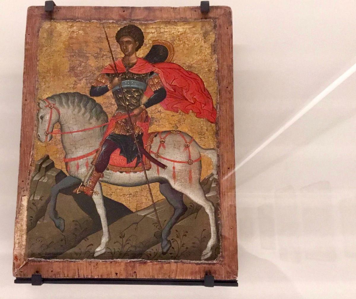 Crète, deuxième tiers du XVe siècle, Saint Georges cavalier, Bois, fond d'or, Vers 1450 ?