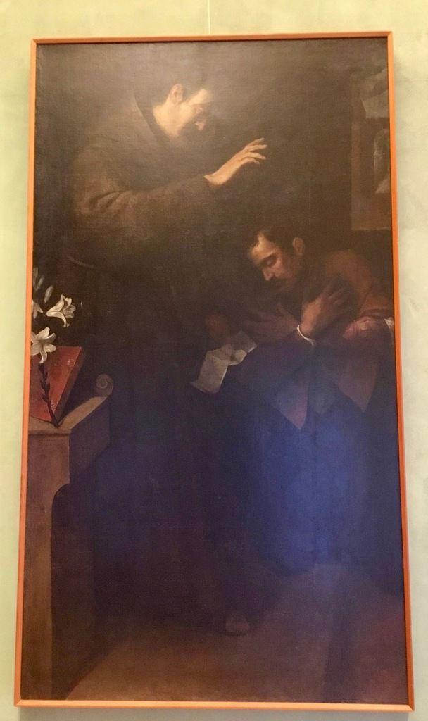 Filippo Paladini (1544 ca.-1616 ca.), Sant'Antonio assolve un penitente, 1608, Olio su tela, cm 198 x 111 (provenienza : Palermo, convento di Sant'Antonino)