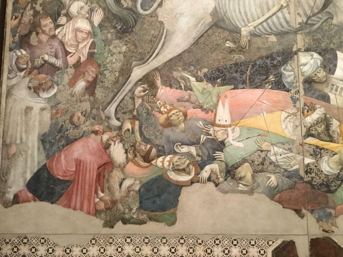 """""""Maestro del trionfo della Morte"""" ed Aiuto. (Sec. XVI metà), Trionfo della morte (Staccato del Palazzo Sclafani, Palermo)"""