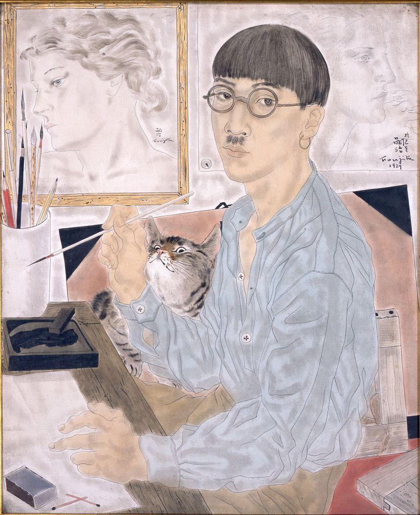 Foujita, Autoportrait, 1929, The National Museum of Modern Art, Tokyo © Internet
