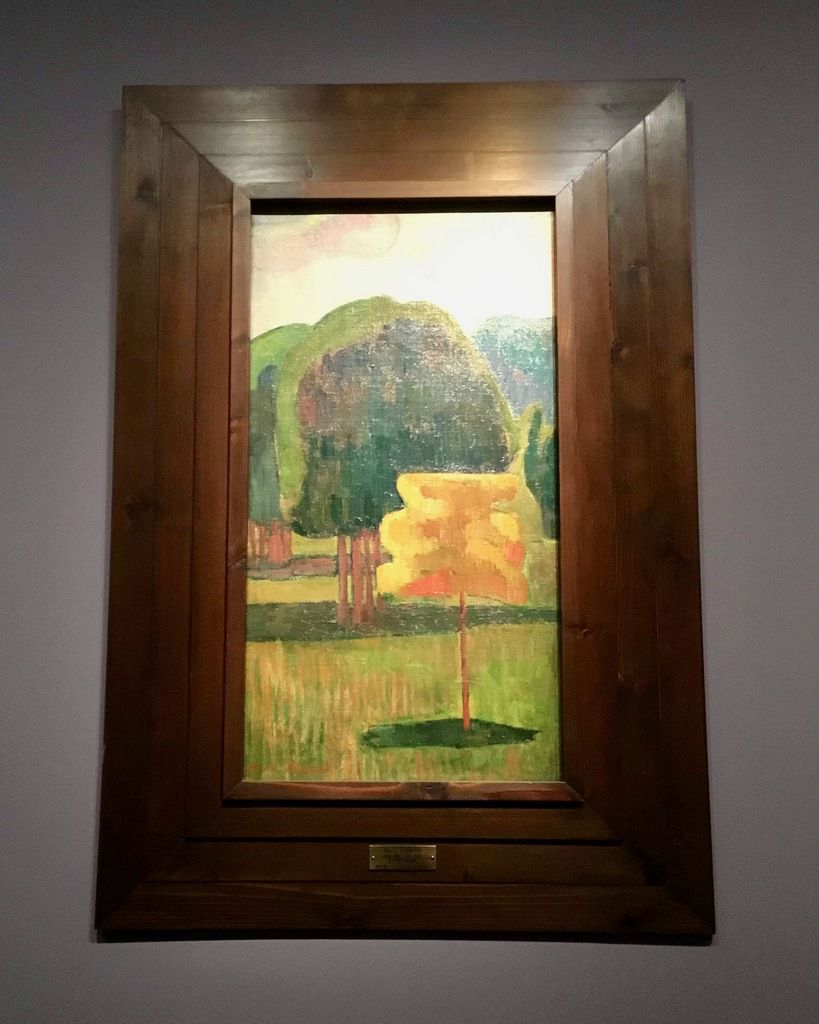 Emile Bernard (1868-1941), l'Arbre jaune, vers 1888 (Rennes, Musée des Beaux-Arts)