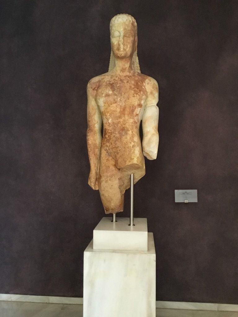 """The """"Sacred Gate Kouros"""", 600-590 BC. From the Sacred Gate area."""