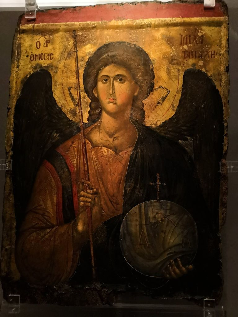 Icon with the Archangel Michael. From a Constantinople workshop favoured by the nobility. 14th c.