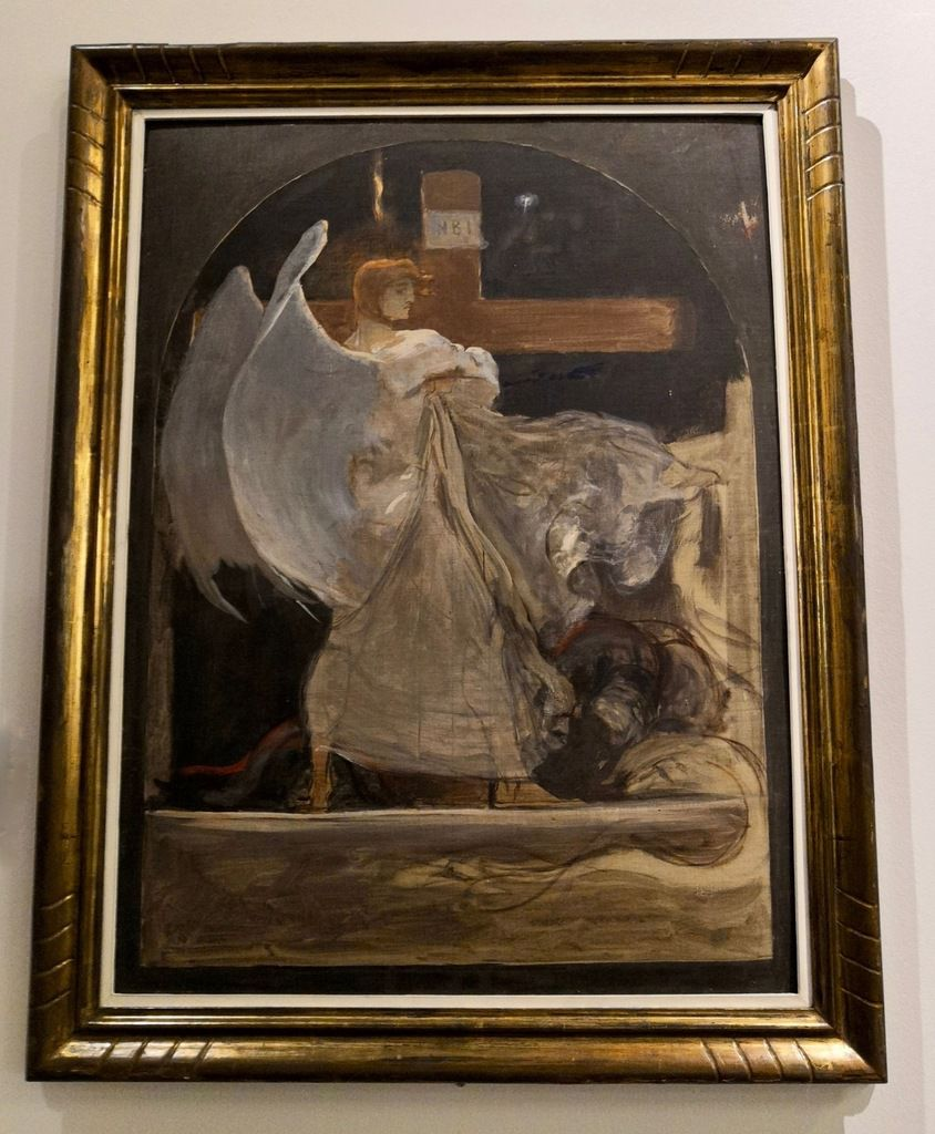 """The Archangel. Study for """"The Growning of Faith, 1895."""