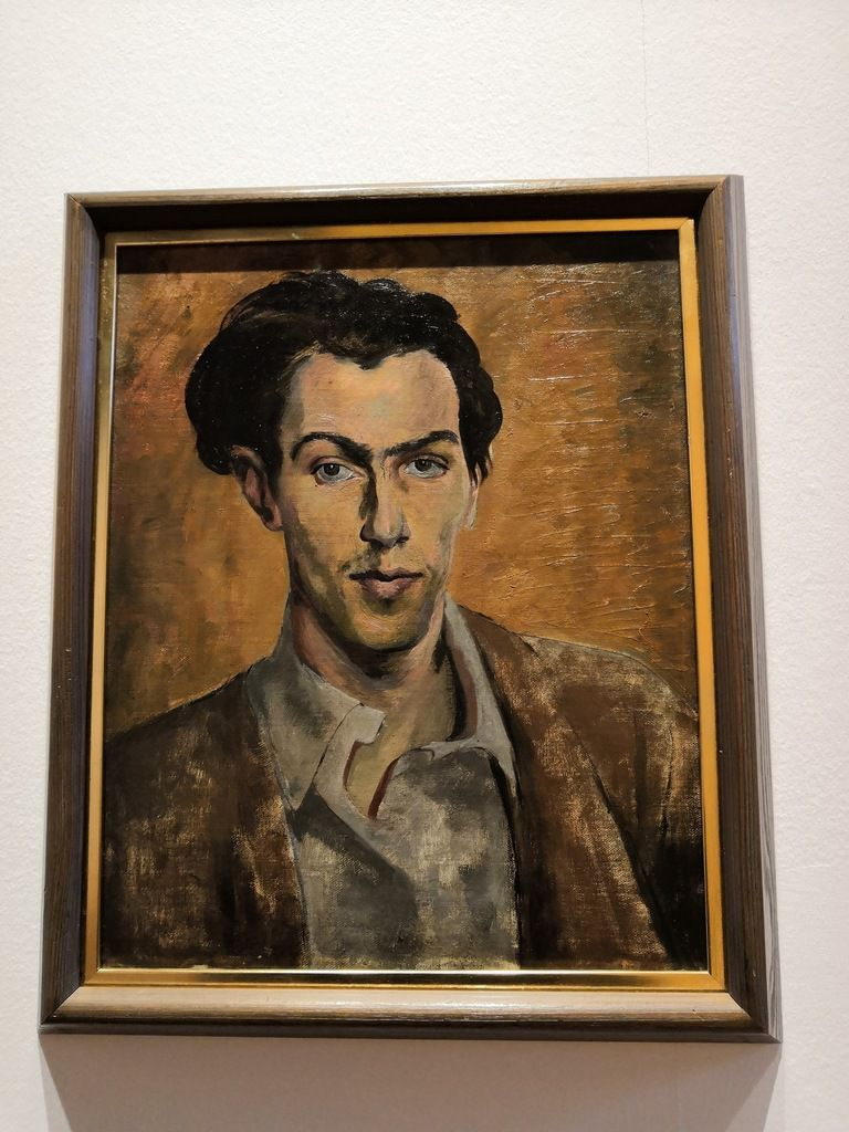 Robert Colquhoun (1914-1962), Self-portrait, Oil on canvas, painted in about 1940
