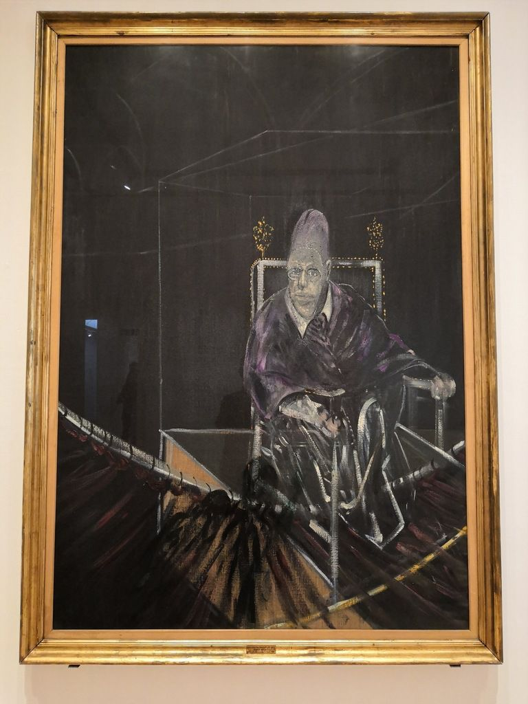 Pope I – Study after Pope Innocent X by Velázquez, 1951, Oil on canvas