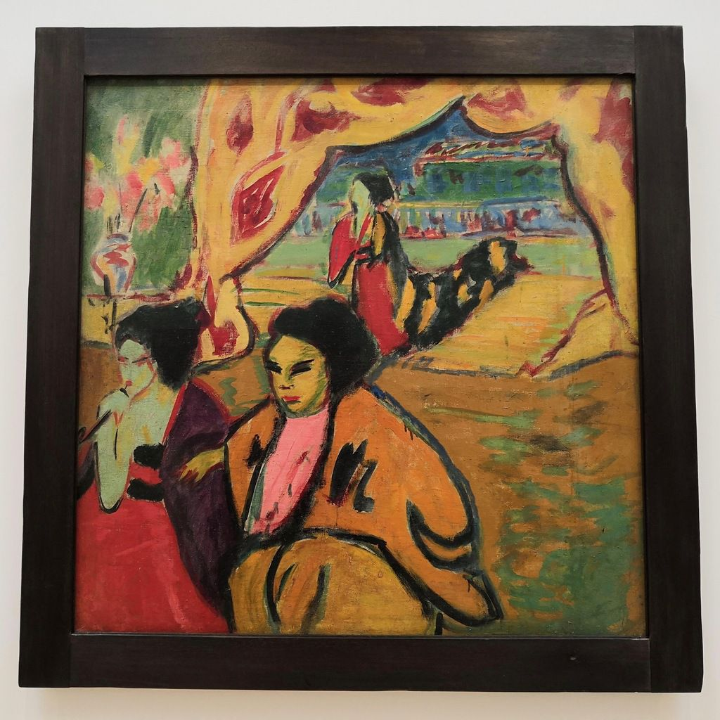 Ernst Ludwig Kirchner, Japonese Theatre, c. 1909-10, Oil on canvas