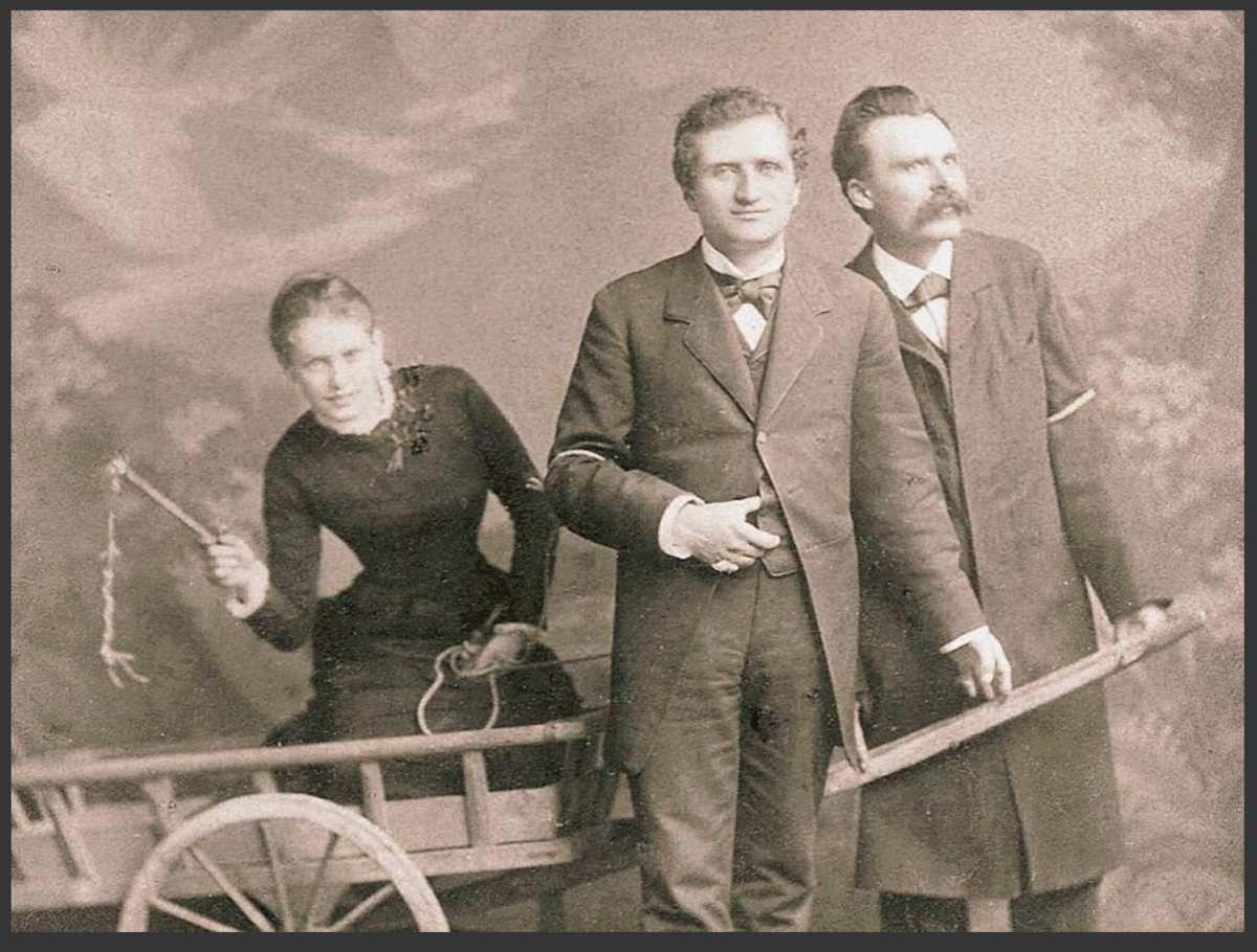Lou Andreas-Salomé, Paul Rée et Friedrich Nietzsche en 1882.
