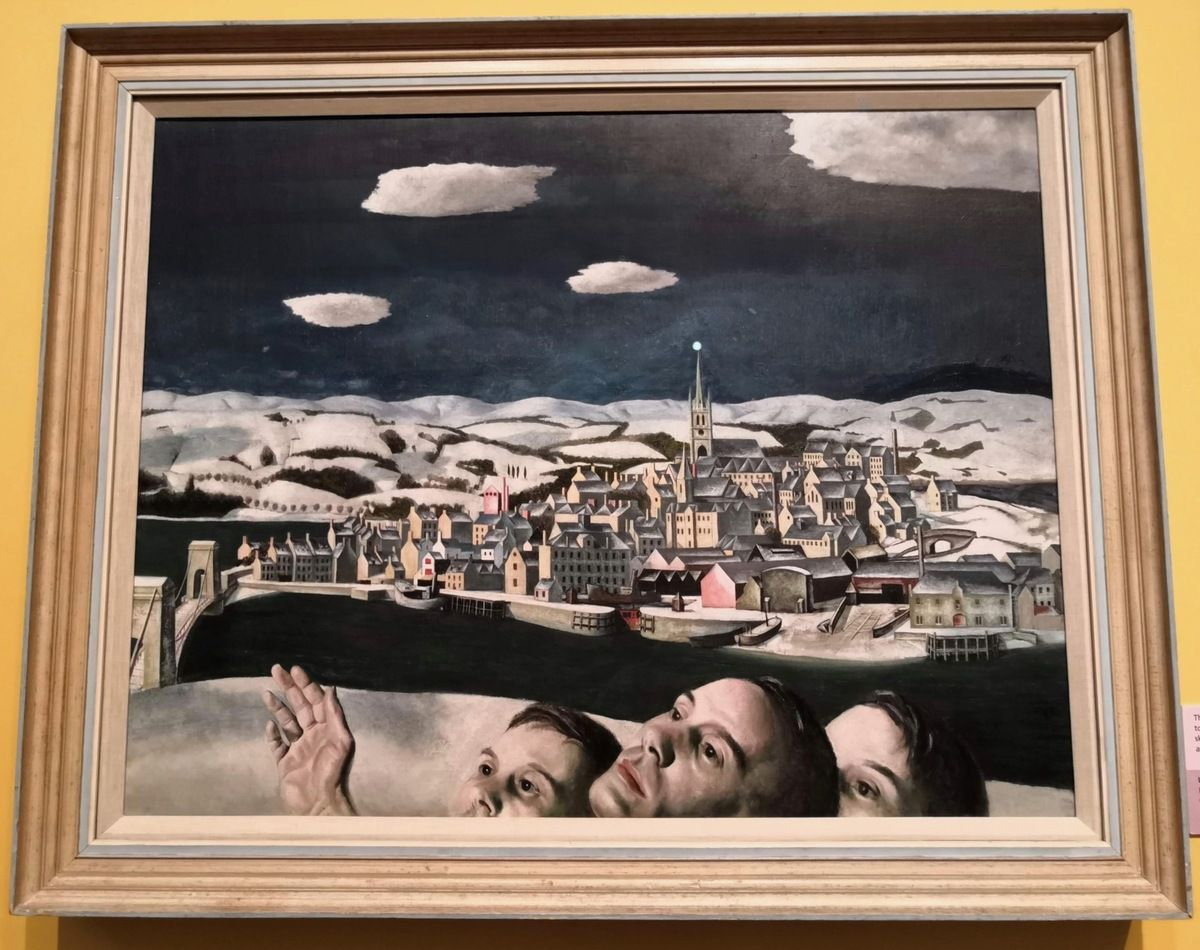 Edward Baird, Unidentified Aircraft (over Montrose), 1942, Oil on canvas