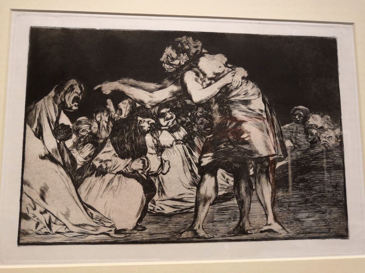 Francisco Goya y Lucientes, Disparate Matrimonial (Proverbios plate 7), 1810-1823, Aquatint, etching and drypoint