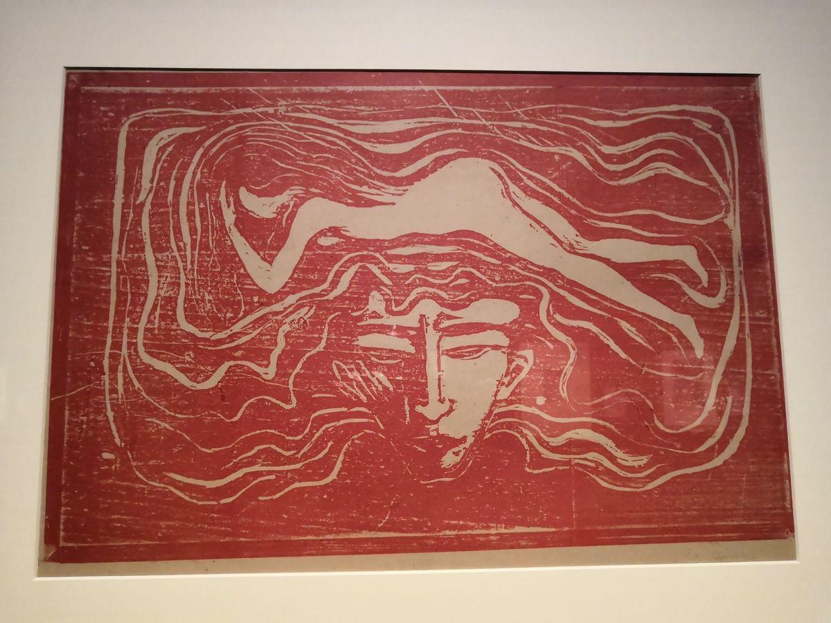 Edvard Munch, Im Männlichen Gehirn (In the man's brain), 1897, woodcut, printed in red, signed in pencil