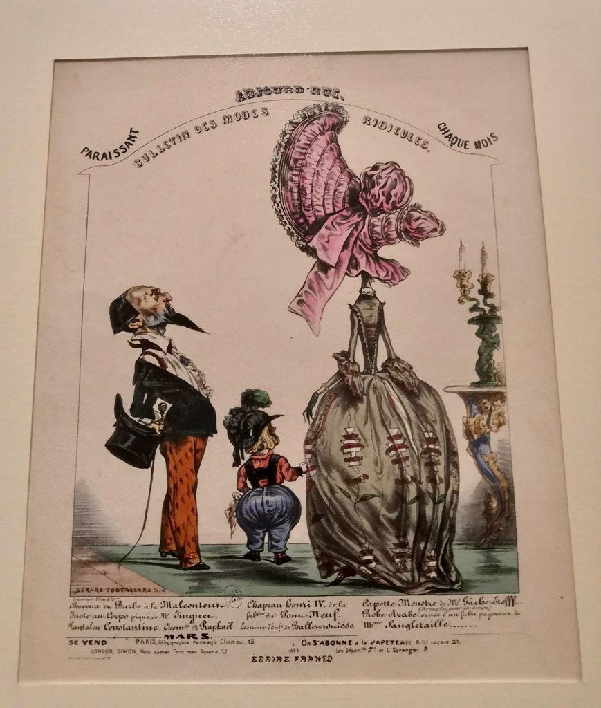 Gérard Fontallard, Bulletin des modes ridicules, vers 1838, Lithographie coloriée