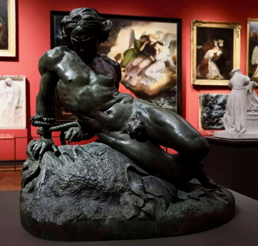 Jehan Duseigneur, Roland furieux, 1867, Bronze, fonte réalisée en 1867 d'après le modèle exposé au Salon de 1831