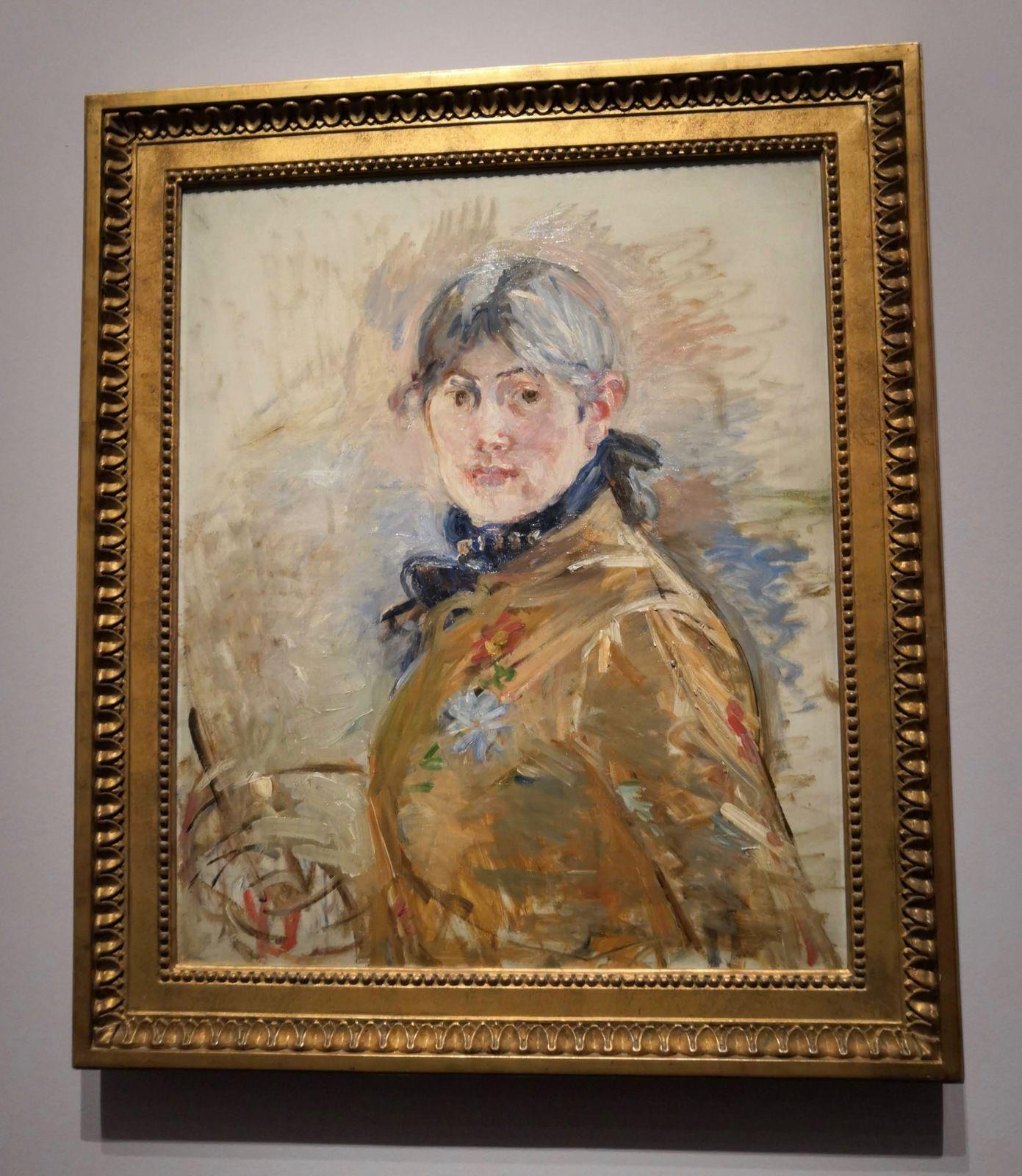 Berthe Morisot, Autoportrait, 1885, Huile sur toile, Musée Marmottan-Monet