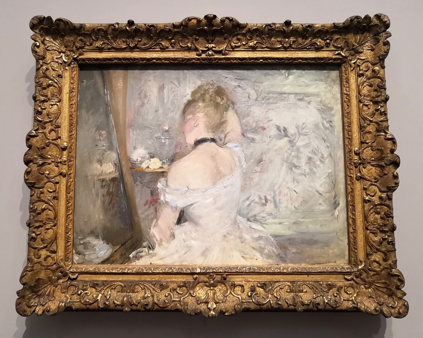 Femme à sa toilette, 1875-1880, Huile sur toile, Chicago, The Art Institute of Chicago, Stickney Fund